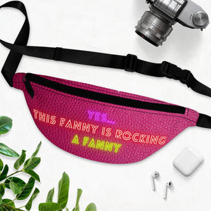 Pink Leather Print Fanny Rocking Fanny Pack - S I S U M O I