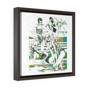 Luxe Summer Square Framed Premium Gallery Wrap Canvas - S I S U M O I