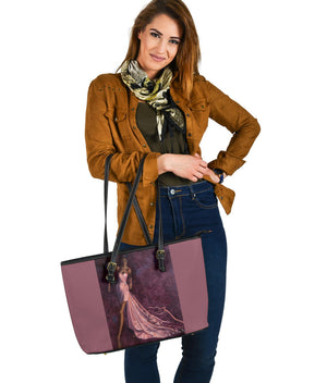 """Pink Prowl"" Large PU Leather Tote (Includes Expedited Shipping) - S I S U M O I"