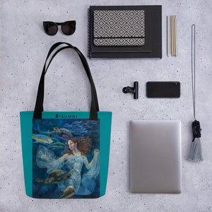 """Aquatic Highway"" Tote Bag ⭐⭐⭐⭐⭐ - S I S U M O I"