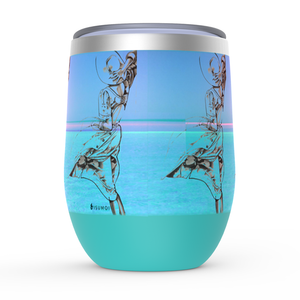 """Beach Wind Fashion"" Stemless Wine Tumblers - S I S U M O I"