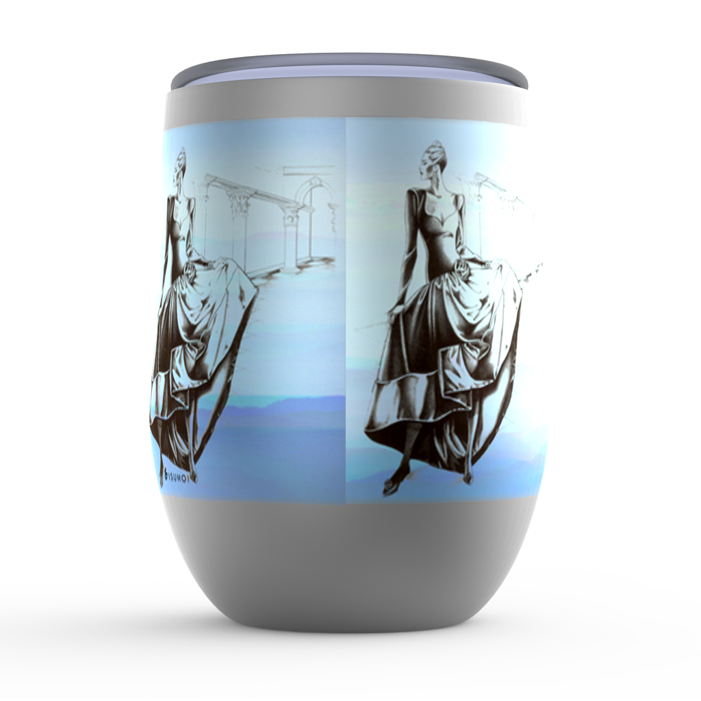 """Heavenly Strike of a Pose"" Stemless Wine Tumbler - S I S U M O I"