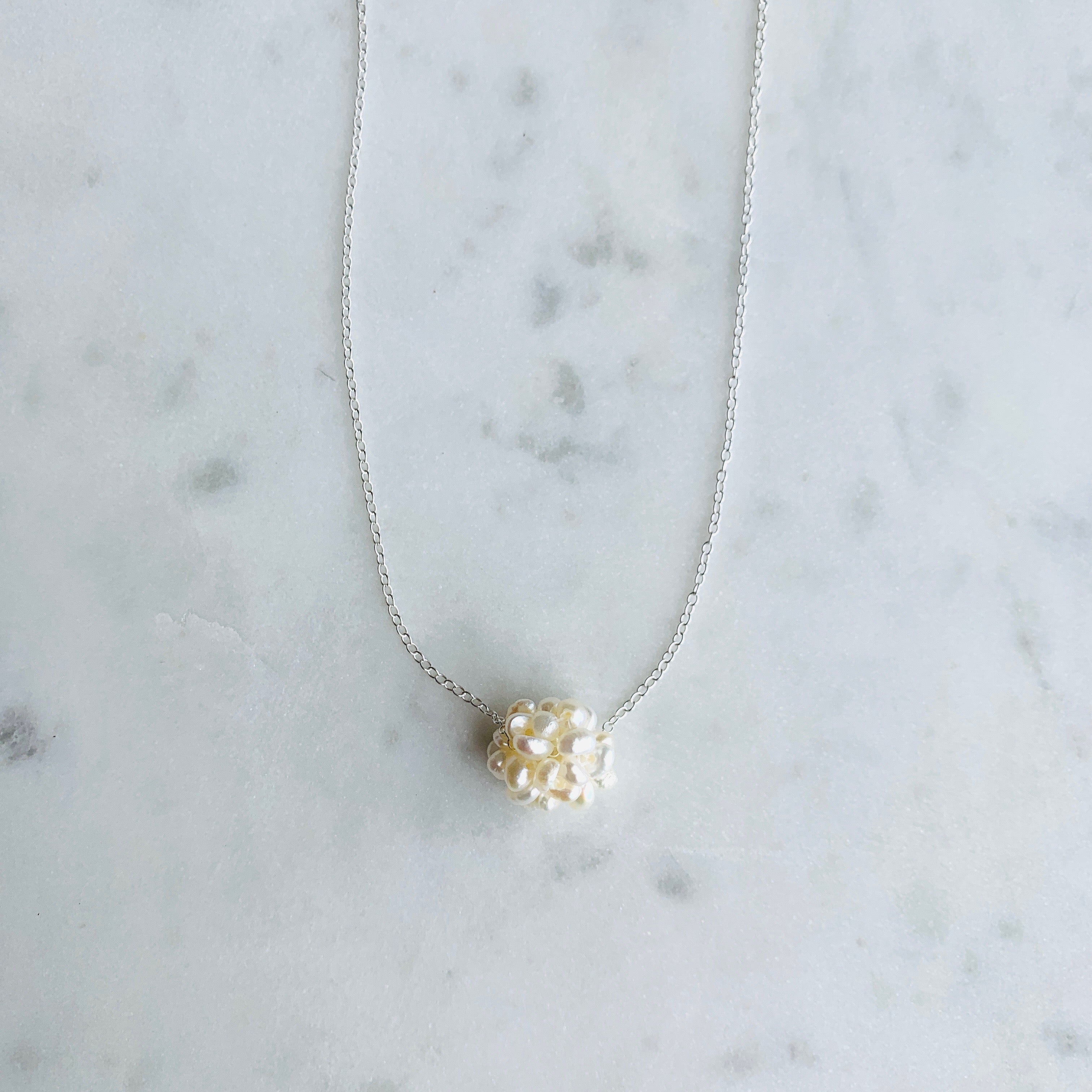 Rio Pearl Cluster Necklace