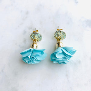 Short Flower Earrings