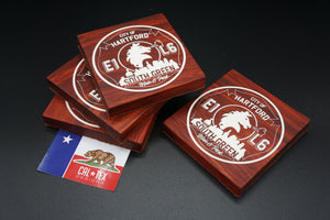 [Set of (4) Wood and Resin Bottle Opener Coaster] - Cal-Tex Designs wood resin bottle opner coaster
