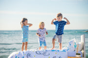 """MORNING SHARKS"" - Shop Organic kids clothing, sheets, bedding, pyjamas, underwear & more"