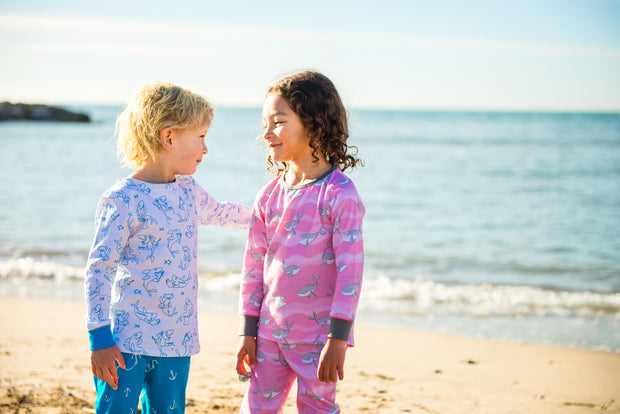 """SHARKY MORNINGS"" - Shop Organic kids clothing, sheets, bedding, pyjamas, underwear & more"