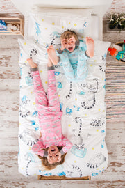 "100% Organic & Fairtrade Certified Cotton Pyjama Set ""HAPPY HUMPBACKS BLUE """