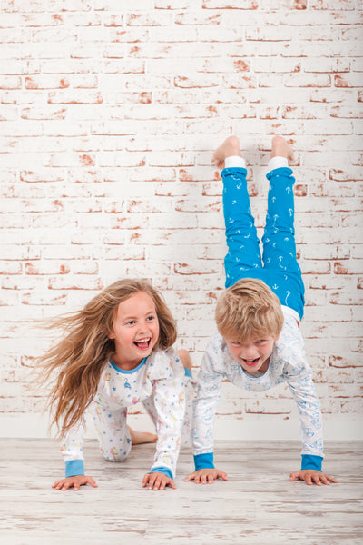 "100% Organic & Fairtrade Certified Cotton Pyjama Set ""SHARKY MORNINGS"""