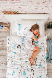 """PLAYFUL LEMURS"" SINGLE SIZE - Shop Organic kids clothing, sheets, bedding, pyjamas, underwear & more"