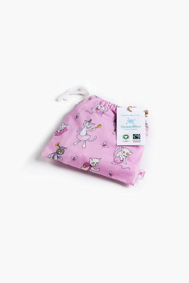 "100% Organic & Fairtrade Certified Cotton Pyjama Set ""MORNING CATS"""