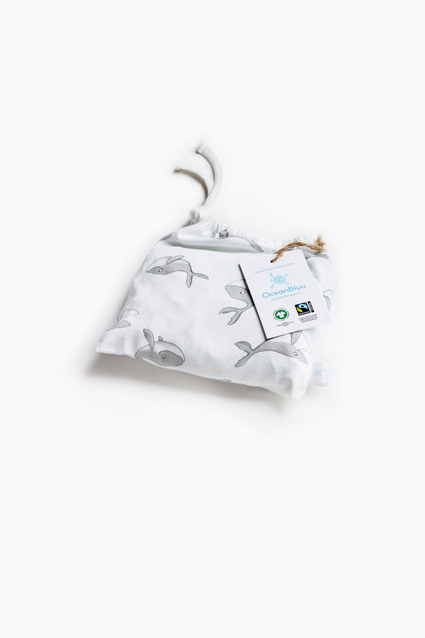 "100% Organic & Fairtrade Certified Cotton Pyjama Set ""FREE WHALES"""