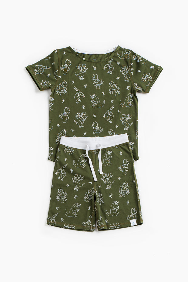 """DINOSAUR MORNING"" - Shop Organic kids clothing, sheets, bedding, pyjamas, underwear & more"