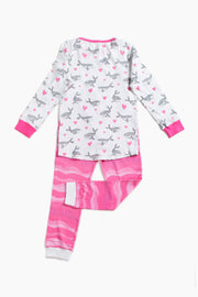 """HUMPBACKS IN LOVE PINK"" - Shop Organic kids clothing, sheets, bedding, pyjamas, underwear & more"