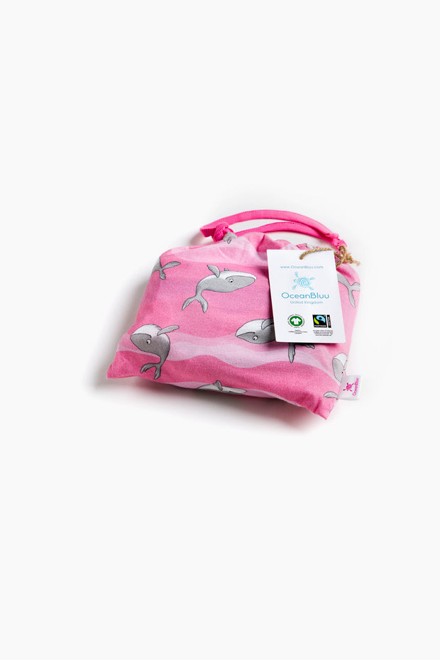 """HAPPY HUMPBACKS PINK"" - Shop Organic kids clothing, sheets, bedding, pyjamas, underwear & more"