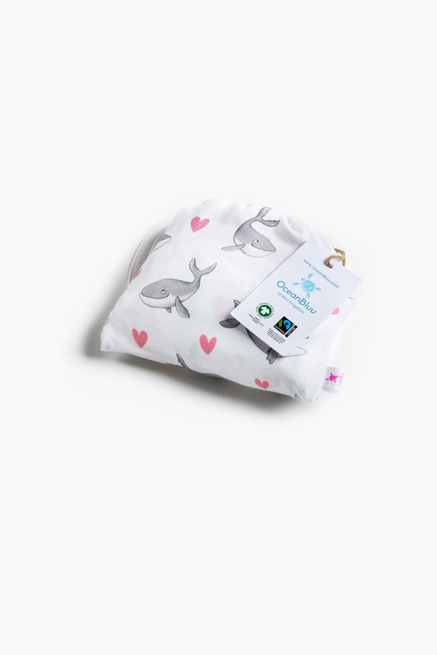 "100% Organic & Fairtrade Certified Cotton Pyjama Set ""HUMPBACKS IN LOVE PINK"""