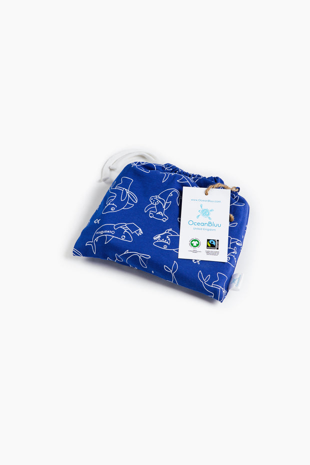 "100% Organic & Fairtrade Certified Cotton Pyjama Set ""MORNING SHARKS"""