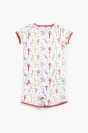 "100% Organic & Fairtrade Certified Cotton Pyjama Set ""PARROT NIGHT"""
