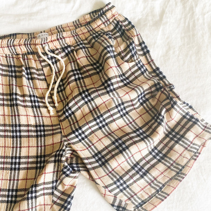 Escobar Short - Limited Edition Custard Tartan