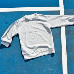 Terry Track Sweater - Grey Marle