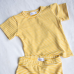 The Day Set - Mustard/White Stripe