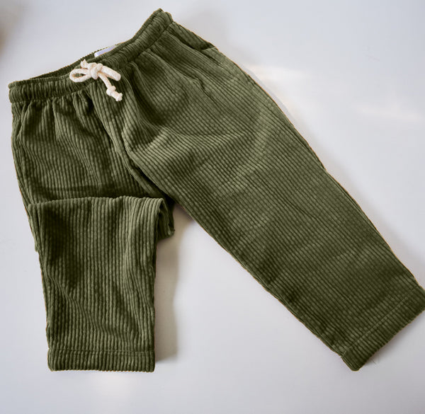 The Cord Pant - Moss