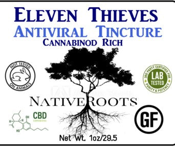 Antiviral Tincture: Eleven Thieves, Cannabinoid Rich