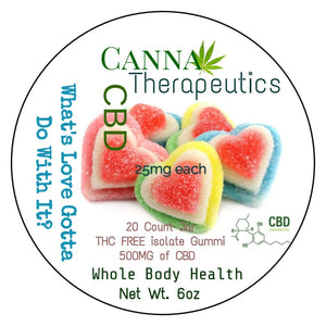 """What's Love Gotta Do With It""  25mg CBD Gummies"