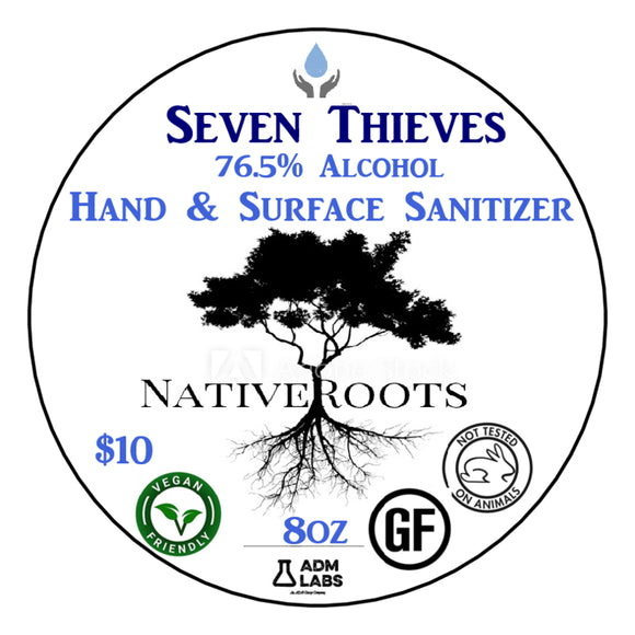 Hand and Surface Sanitizer: Seven Thieves Blend