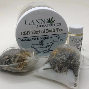 Headache and Migraine CBD Herbal Bath Tea