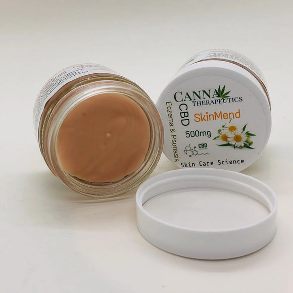 Skin Mend Cream for Eczema and Psoriasis  500mg CBD