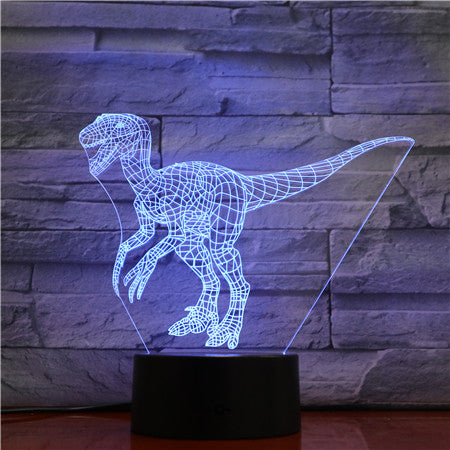 Velociraptor 3D LED Lamp