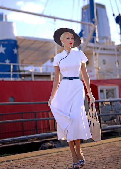 How To Style a Vintage Inspired Swing Dress