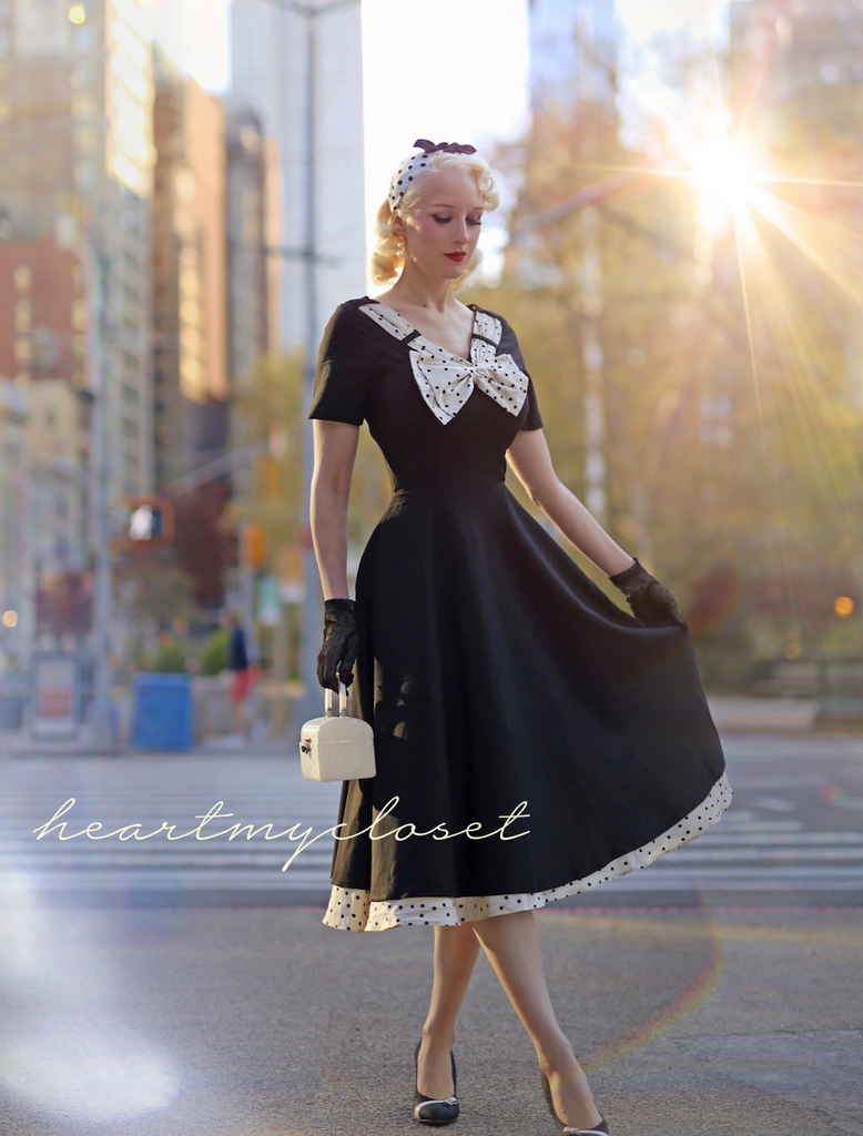 polkadot swing LBD - retro 50s dress