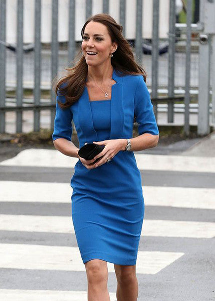 notch collar - inspired from Kate Middleton, pencil dress with notch - heartmycloset