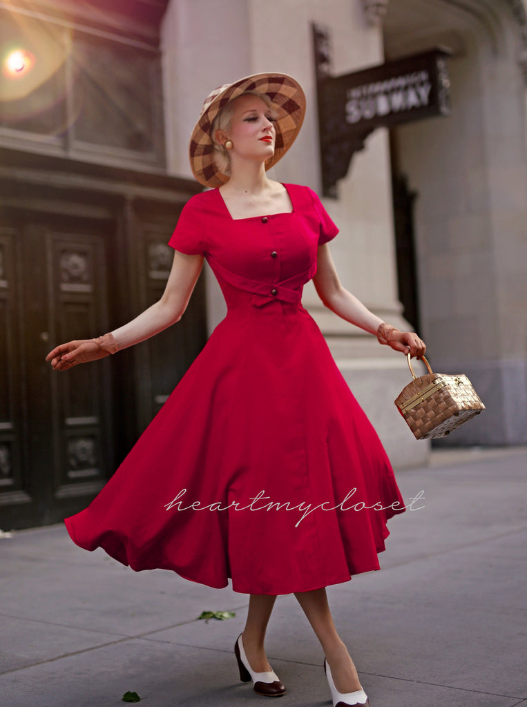 Criss Cross Front dress - 50s retro swing