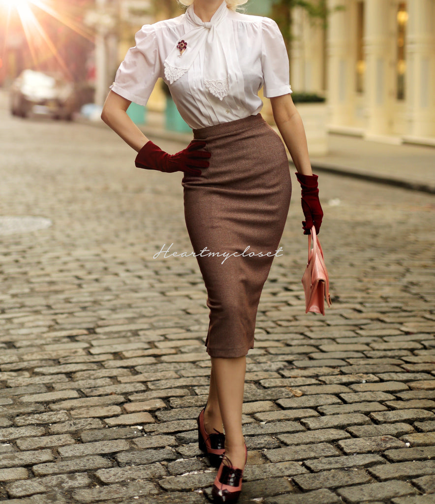 Deborah skirt - pencil skirt with pleats