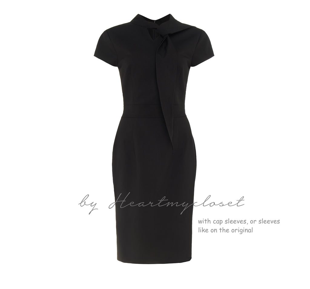 LBD with ties - Meghan Markle inspired dress - heartmycloset