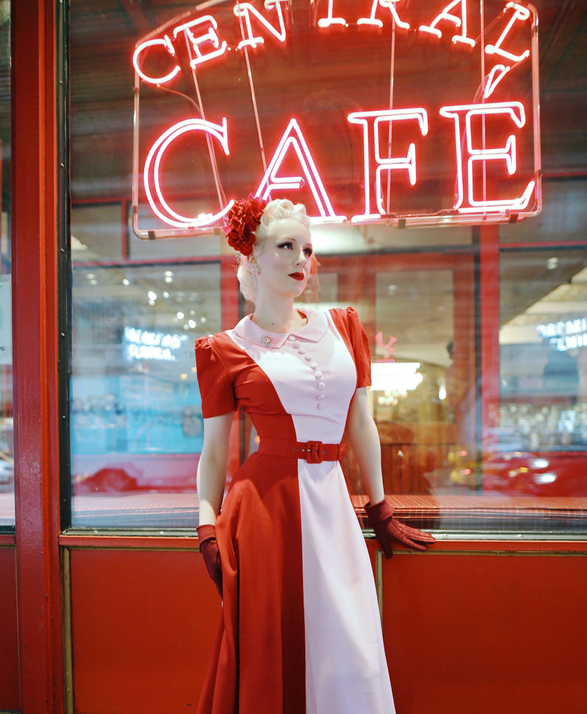 2 tone swing - 50s inspired dress - heartmycloset