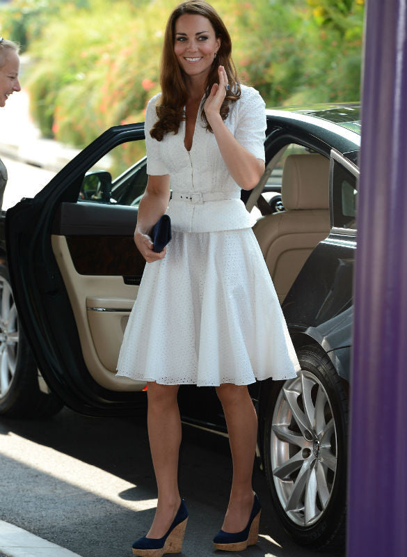 Ellen - Kate Middleton white suit - heartmycloset