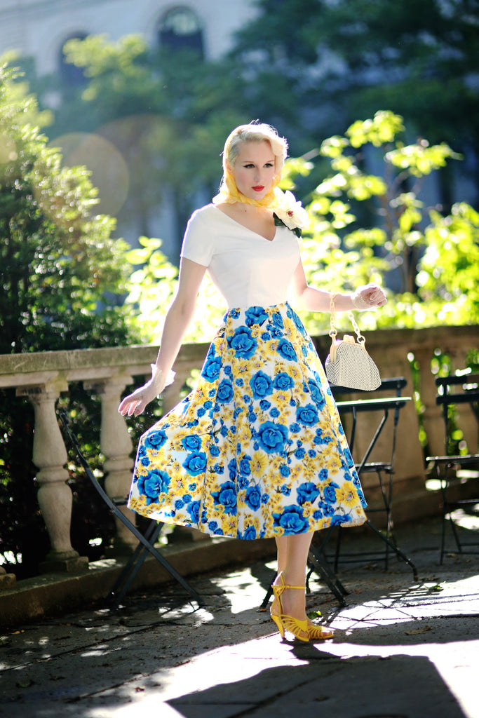 Floral dress - vintage inpsired swing floral