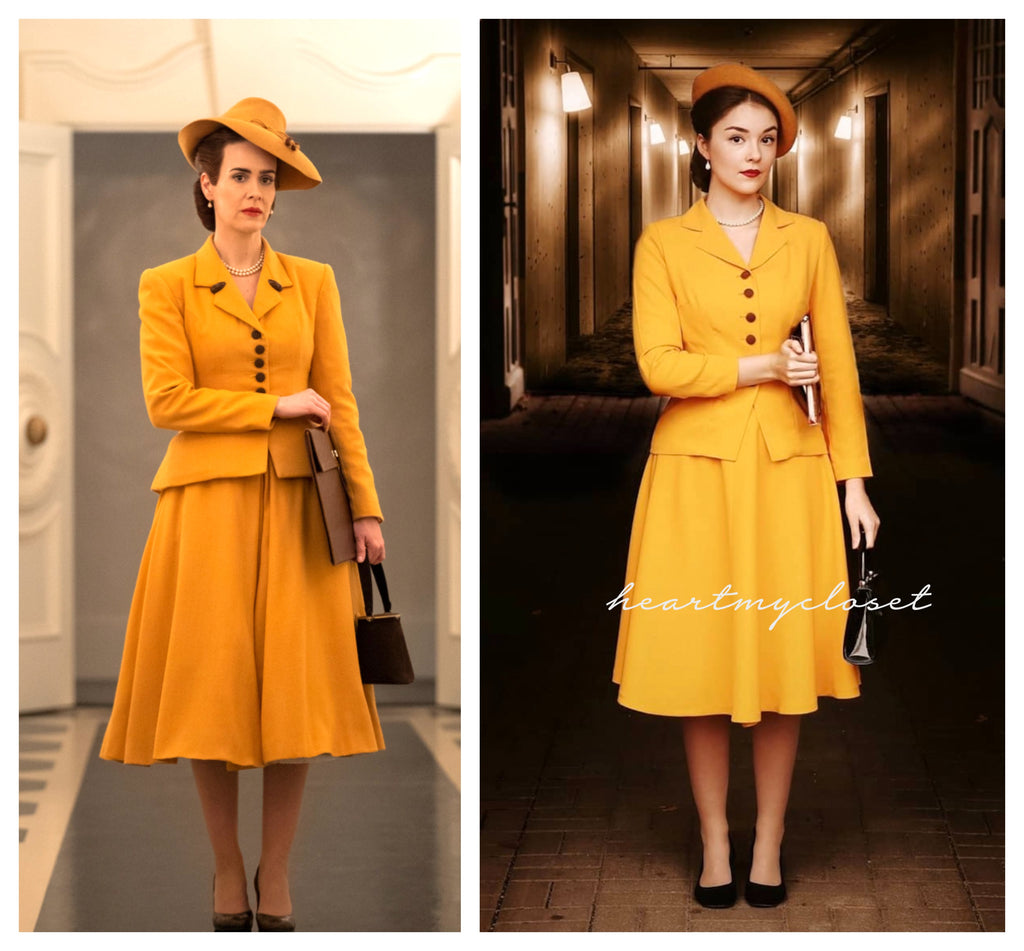 Siri- vintage 1950s suit with swing skirt