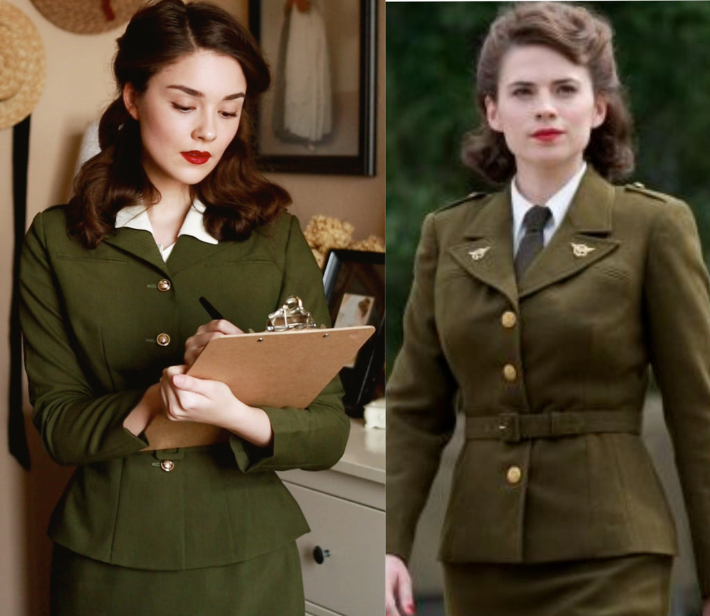 Agent Carter military suit- vintage inspired suit with pencil skirt