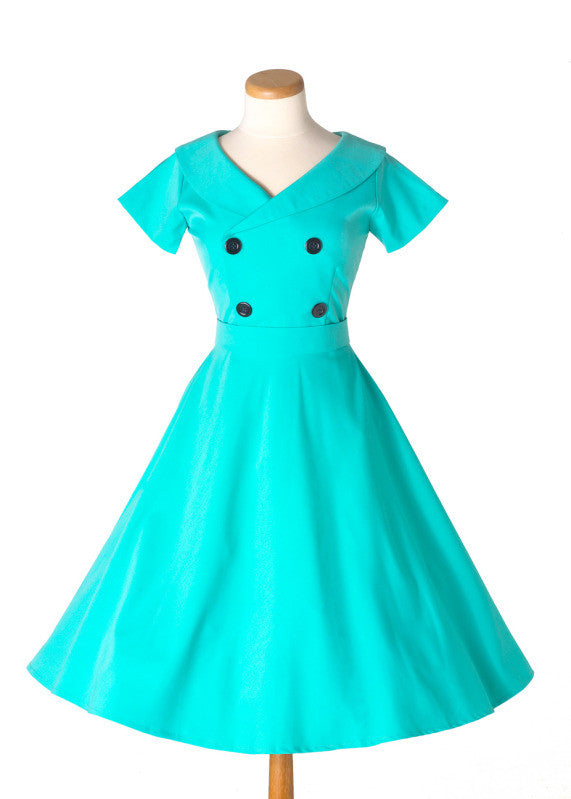 Corey - vintage swing dress sweetheart neckline - heartmycloset
