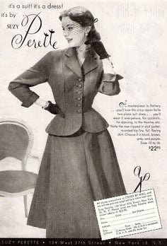 Aria - vintage 1950s suit with pencil skirt