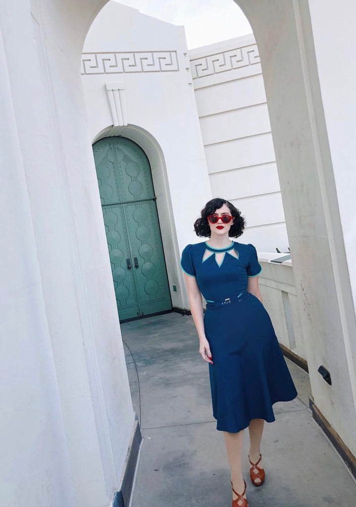 Agent carter - cosplay swing blue dress 50s