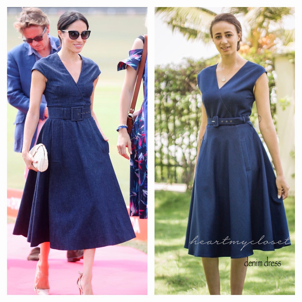 denim dress- Meghan Markle inspired dress