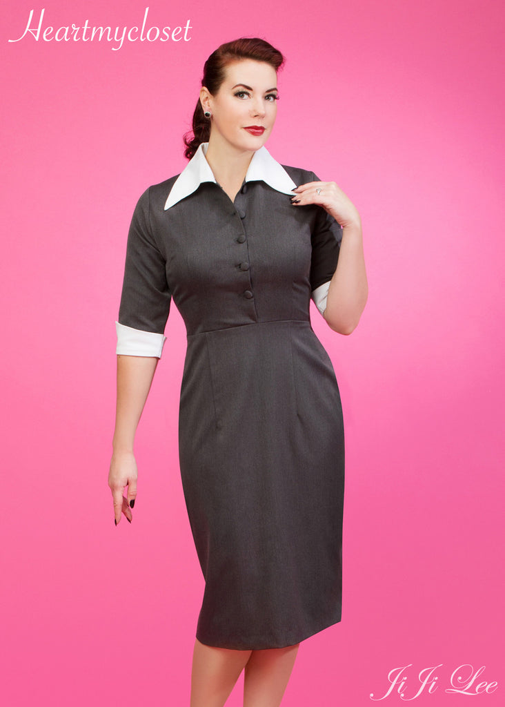 TARA - vintage classic wiggle dress - heartmycloset