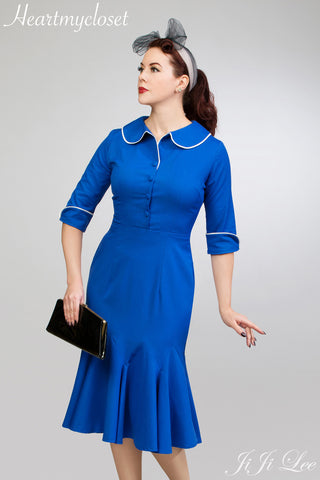 Joelle - vintage 1950s wiggle mermaid dress