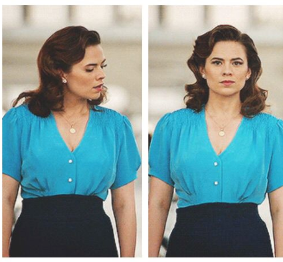 Agent carter blouse blue top - Peggy Carter inspired